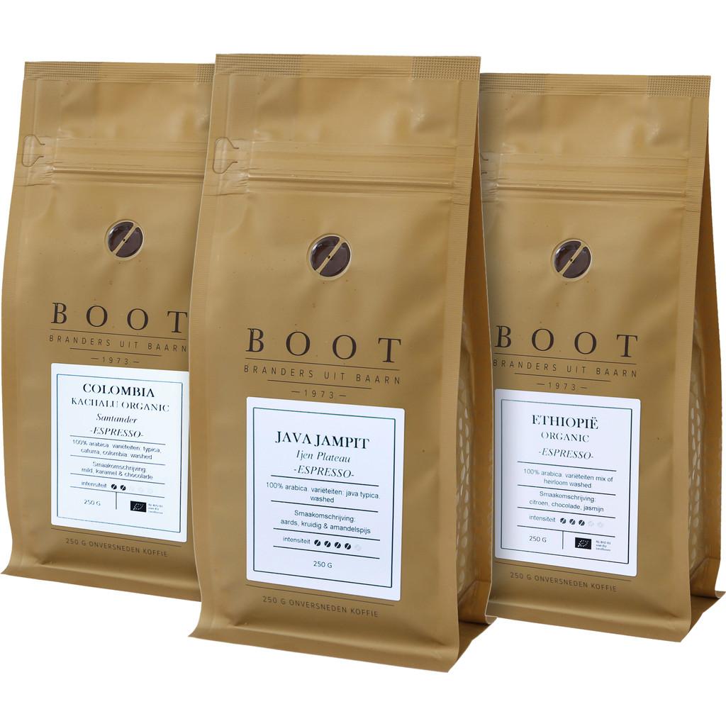 Proefpakket Boot koffiebonen 0,75 kg
