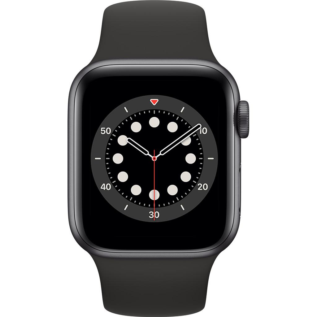 Tweedekans Apple Watch Series 6 40mm Space Gray Aluminium Zwarte Sportband