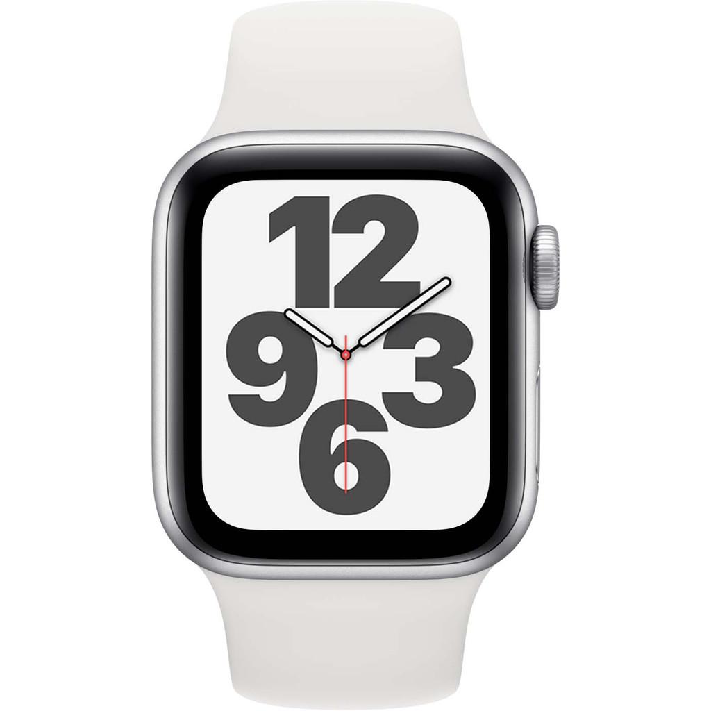 Tweedekans Apple Watch SE 40mm Zilver Aluminium Witte Sportband Tweedehands