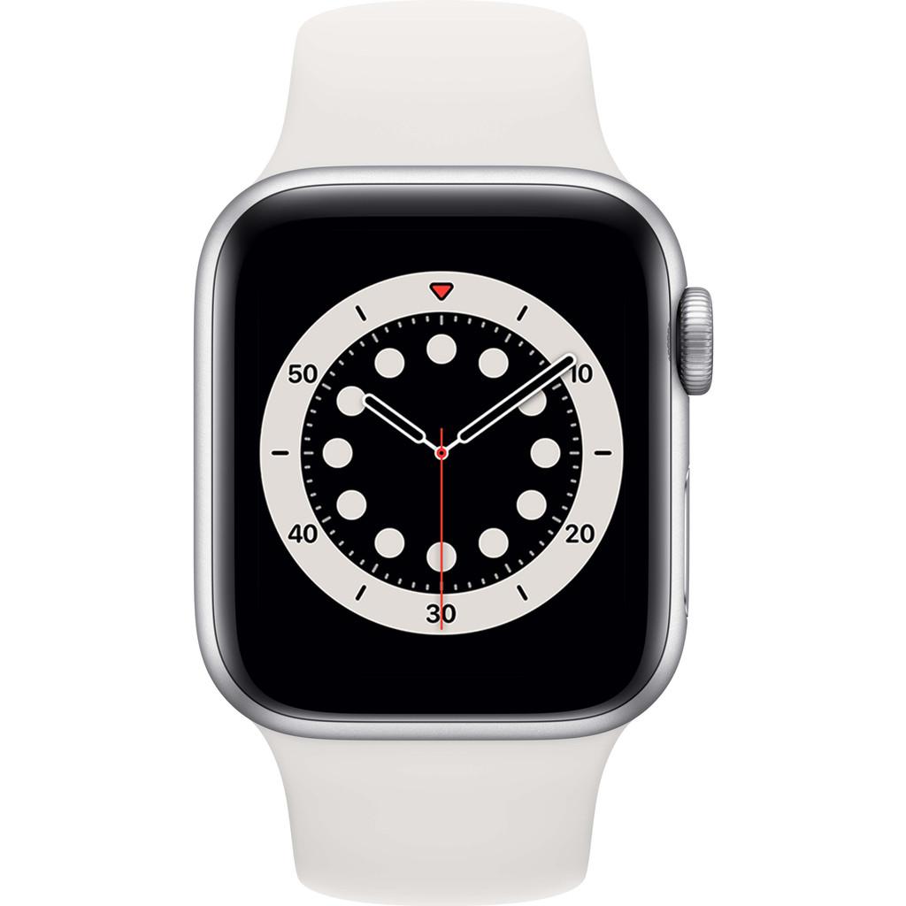 Tweedekans Apple Watch Series 6 40mm Zilver Aluminium Witte Sportband