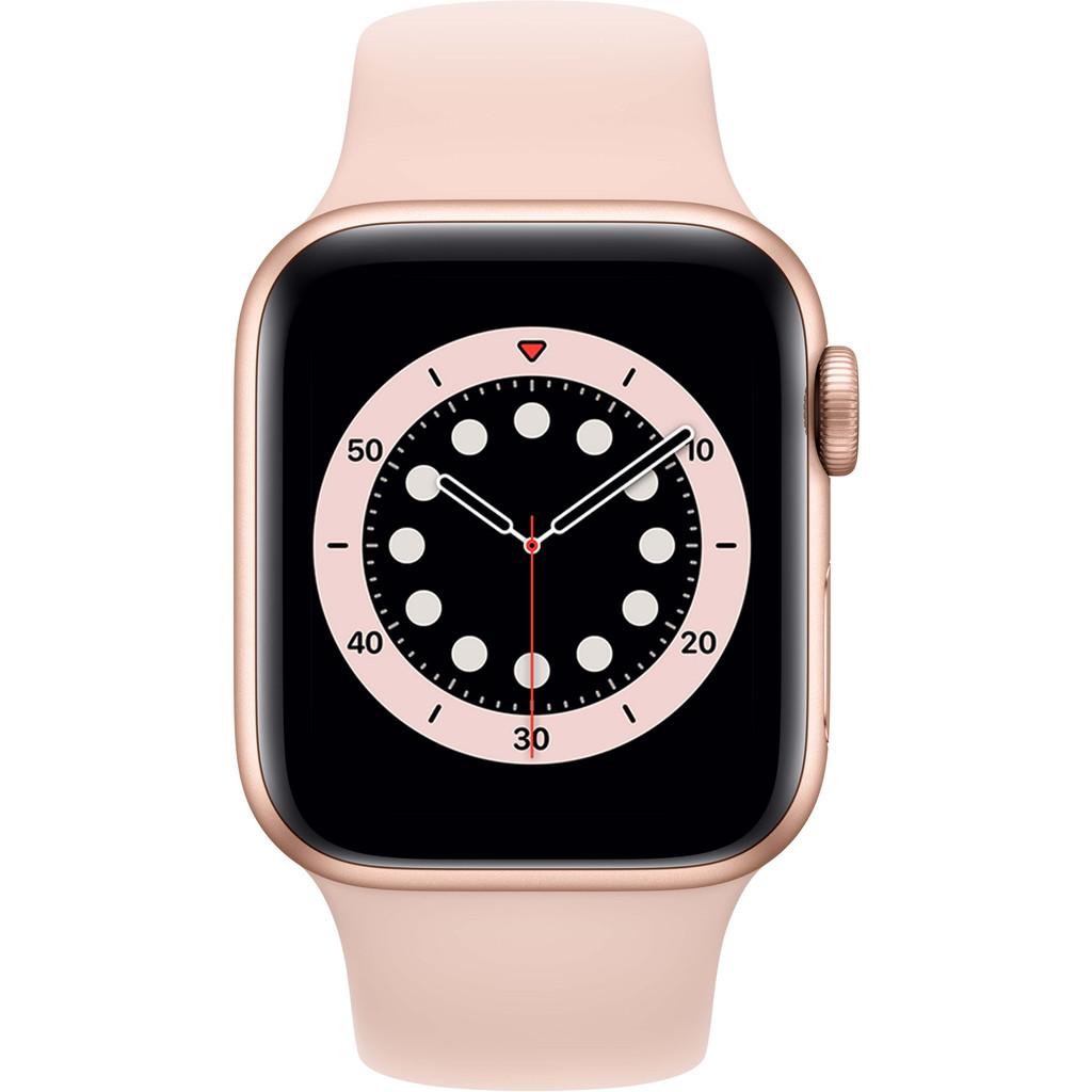 Apple Watch Series 6 40mm Roségoud Aluminium Roze Sportband smartwatch