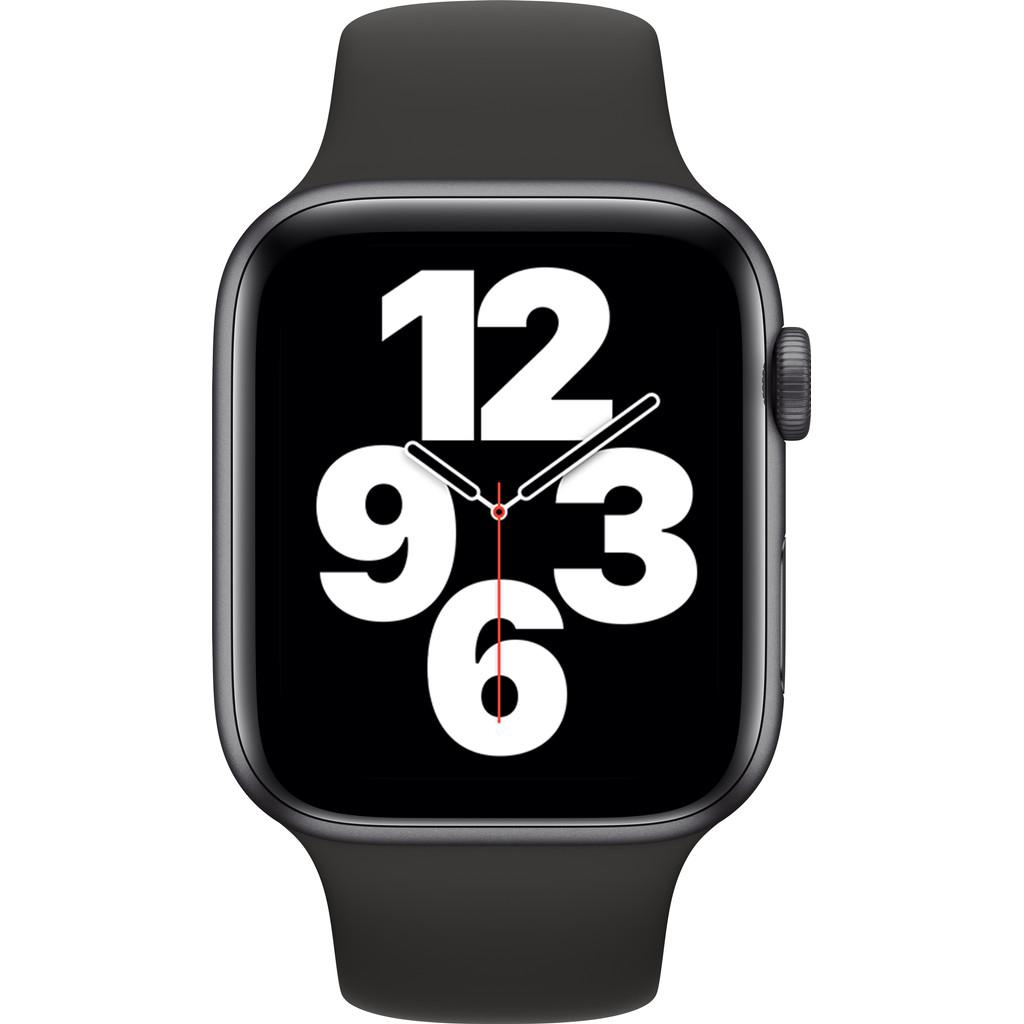 Tweedekans Apple Watch SE 44mm Space Gray Aluminium Zwarte Sportband