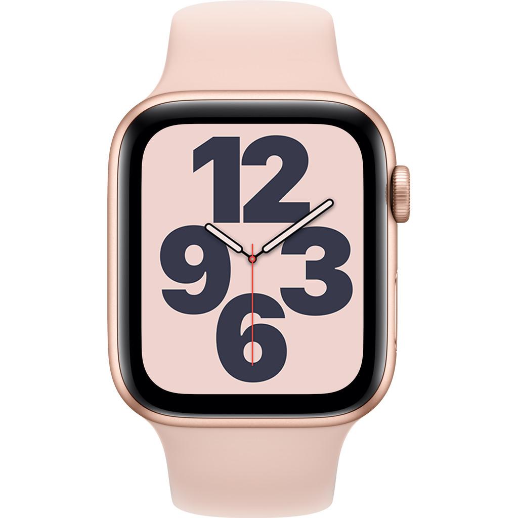 Tweedekans Apple Watch SE 44mm Roségoud Aluminium Roze Sportband