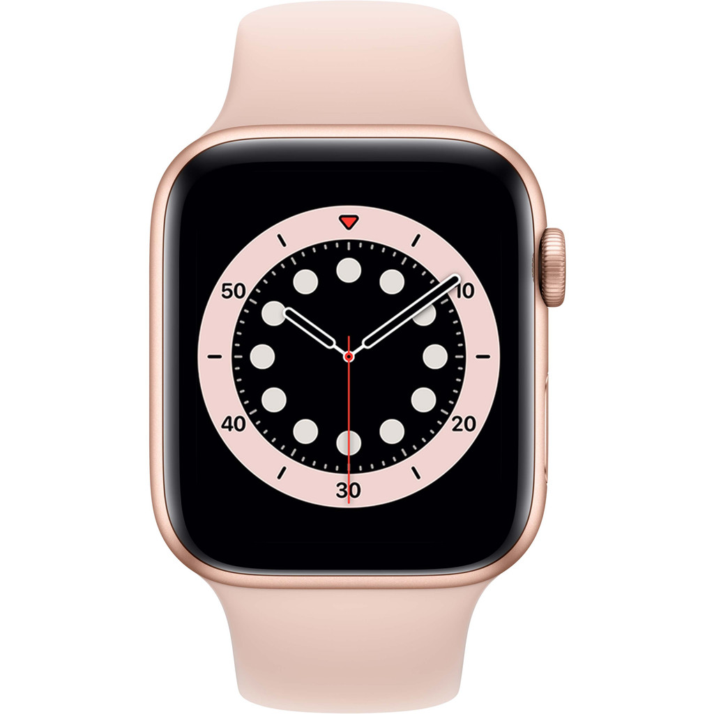 Tweedekans Apple Watch Series 6 44mm Roségoud Aluminium Roze Sportband