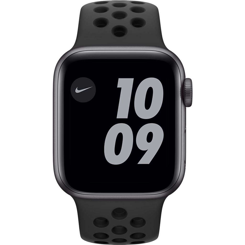 Tweedekans Apple Watch Nike Series 6 40mm Space Gray Aluminium Zwarte Sportband