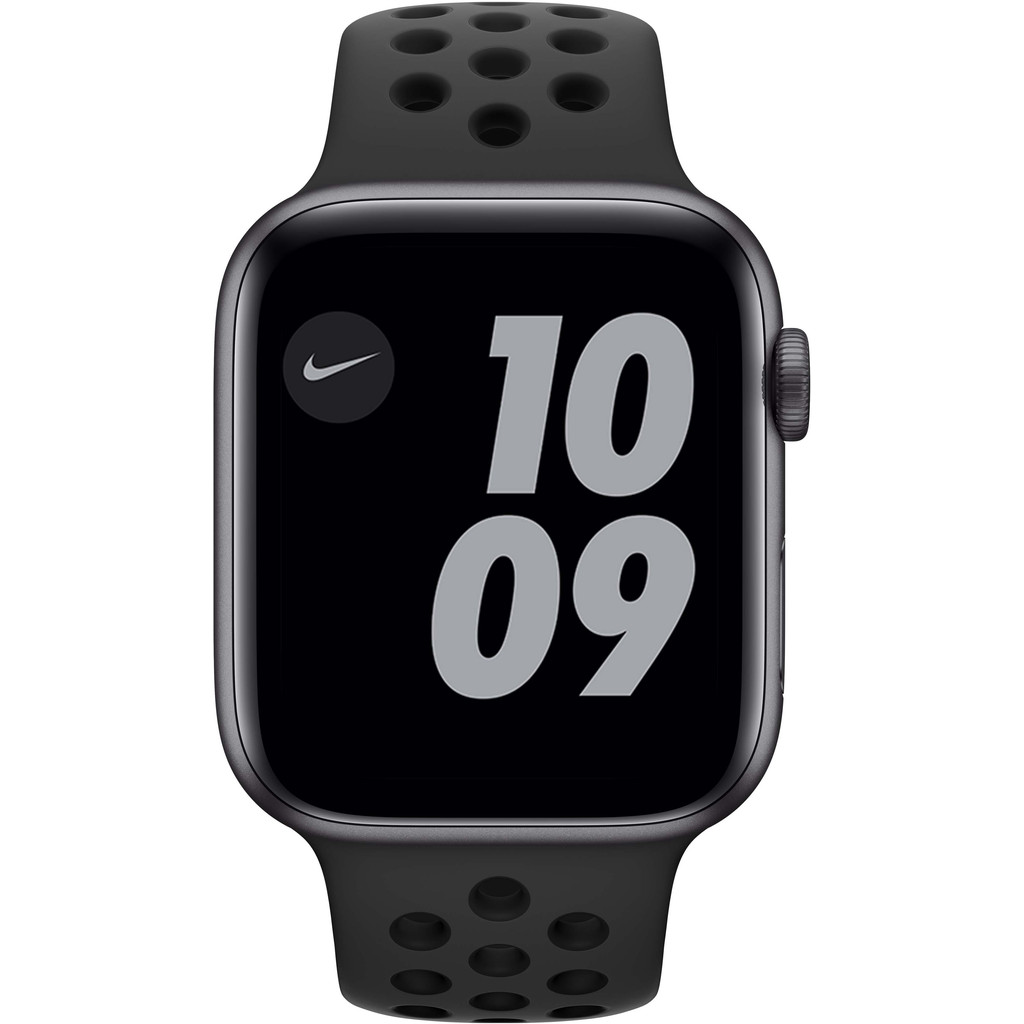 Tweedekans Apple Watch Nike Series 6 44mm Space Gray Aluminium Zwarte Sportband