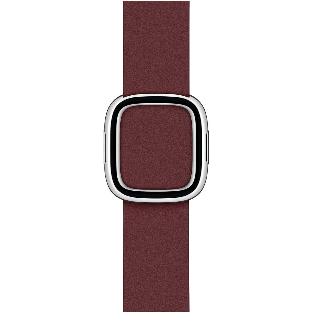Tweedekans Apple Watch 38/40 mm Modern Leren Horlogeband Granaatsteenrood - Small