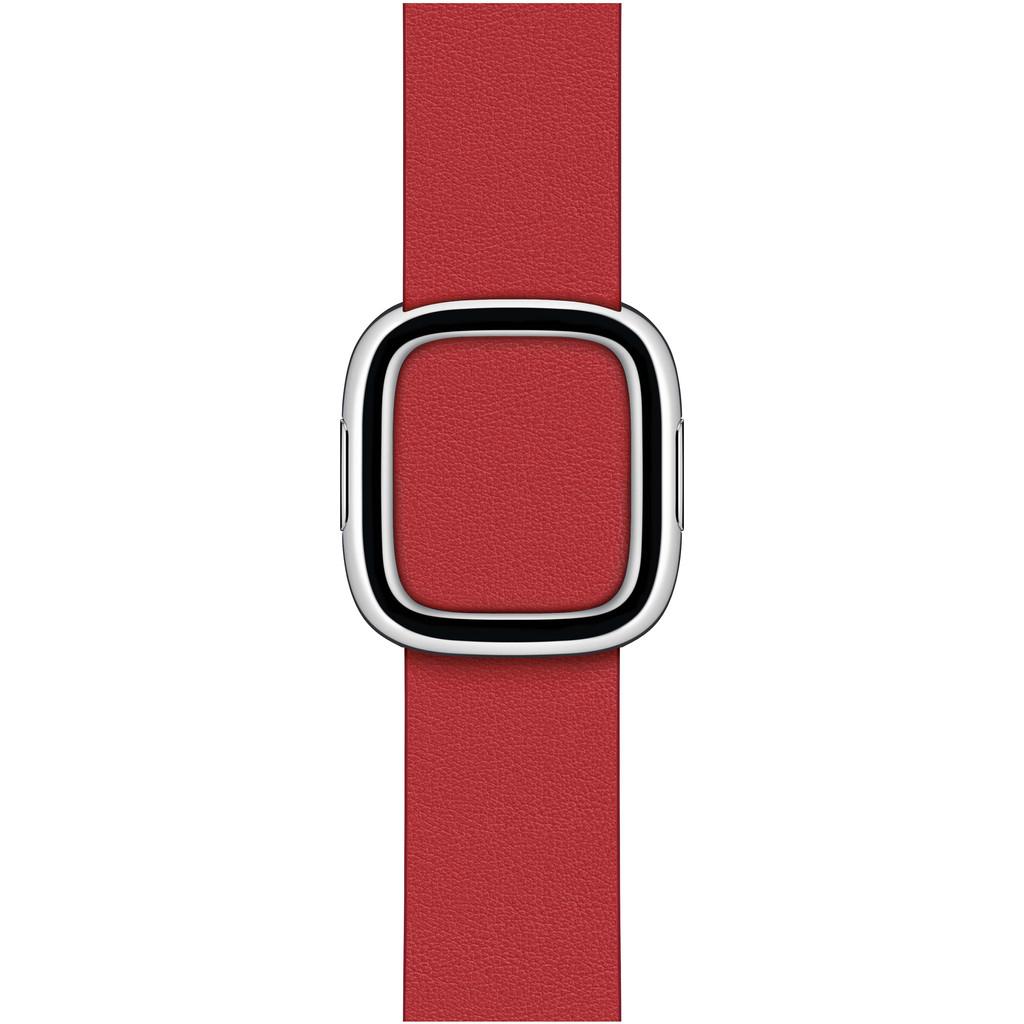 Tweedekans Apple Watch 38/40 mm Modern Leren Horlogeband Scharlakenrood - Medium