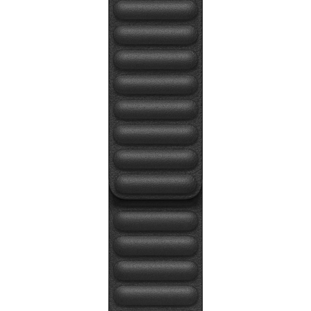 Tweedekans Apple Watch 38/40 mm Leather Link Horlogeband Zwart - Medium/Large