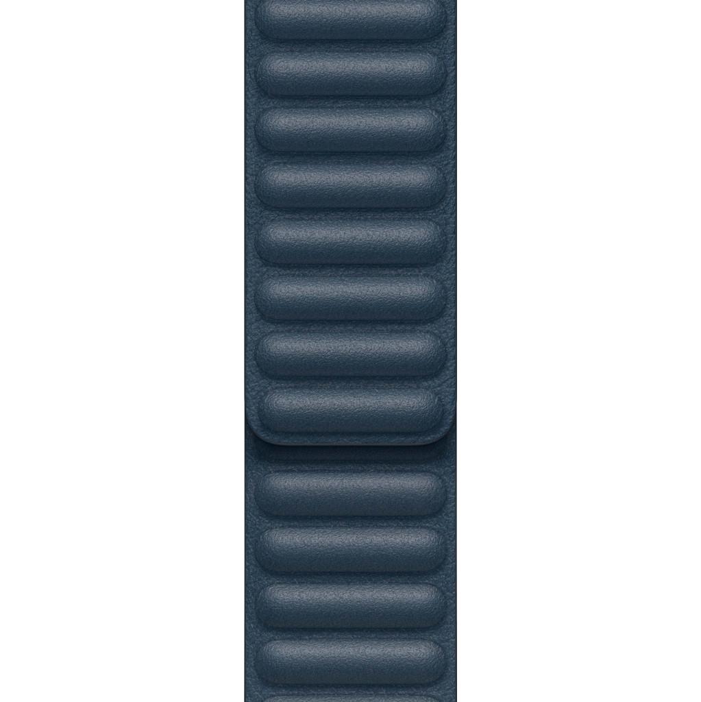 Tweedekans Apple Watch 42/44 mm Leather Link Horlogeband Baltisch Blauw - Small/Medium