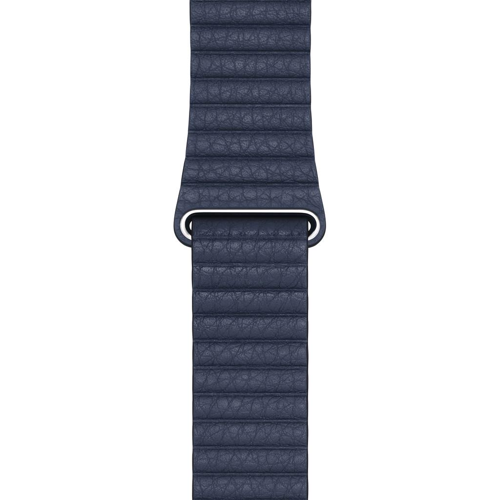 Tweedekans Apple Watch 42/44 mm Leather Loop Horlogeband Duikersblauw - Medium