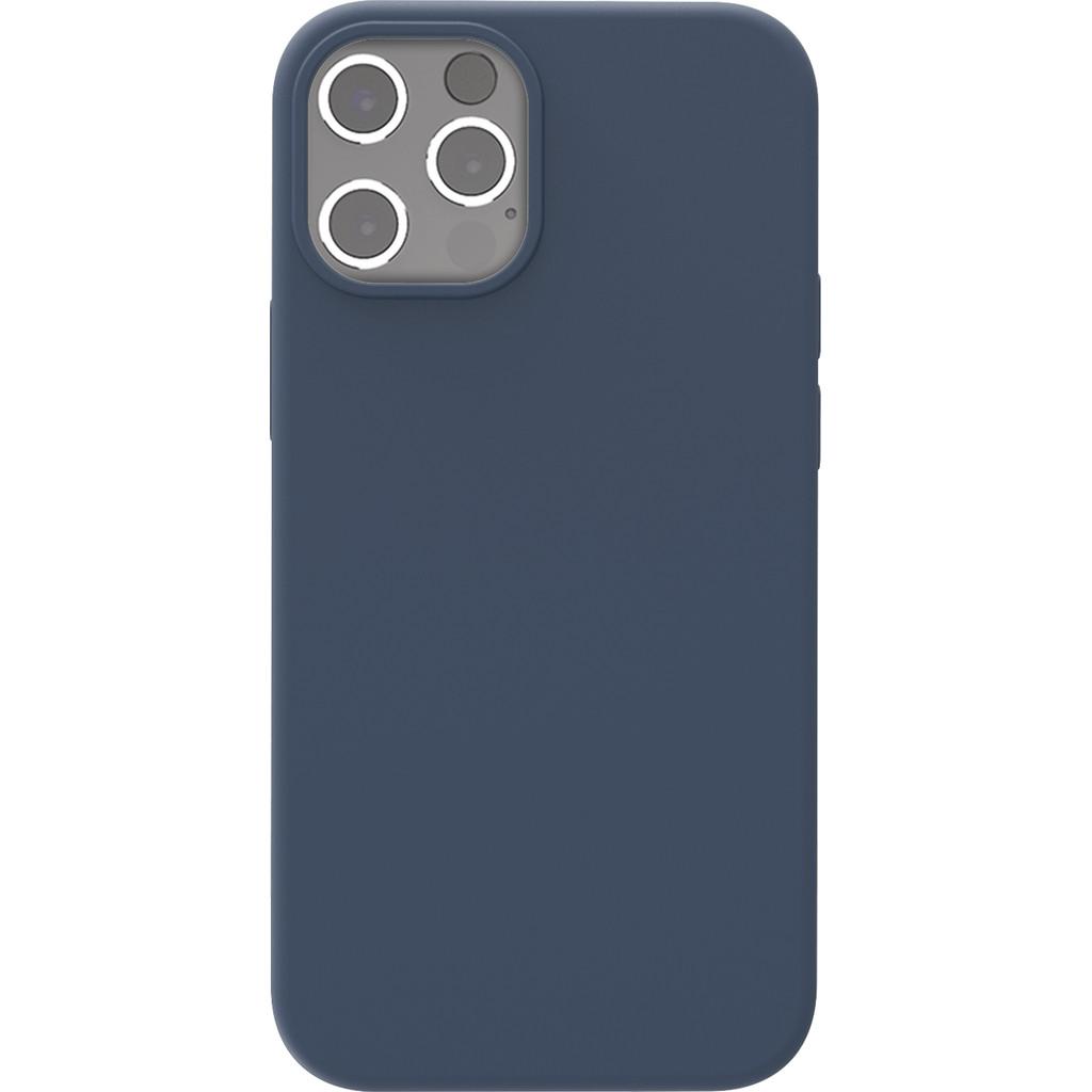 Azuri Back Cover Apple iPhone 12 Pro Max Siliconen Back Cover Blauw