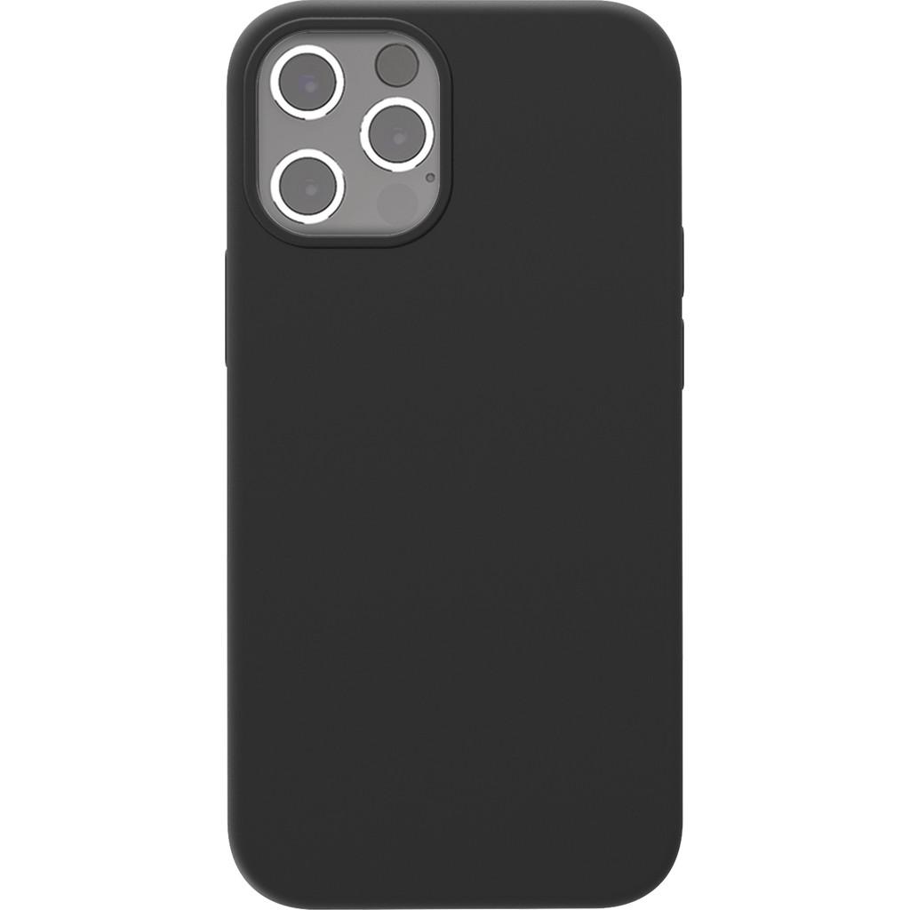 Azuri Back Cover Apple iPhone 12 Pro Max Siliconen Back Cover Zwart