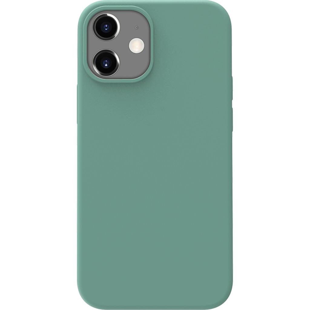 Azuri Back Cover iPhone 12 mini Siliconen Back Cover Groen
