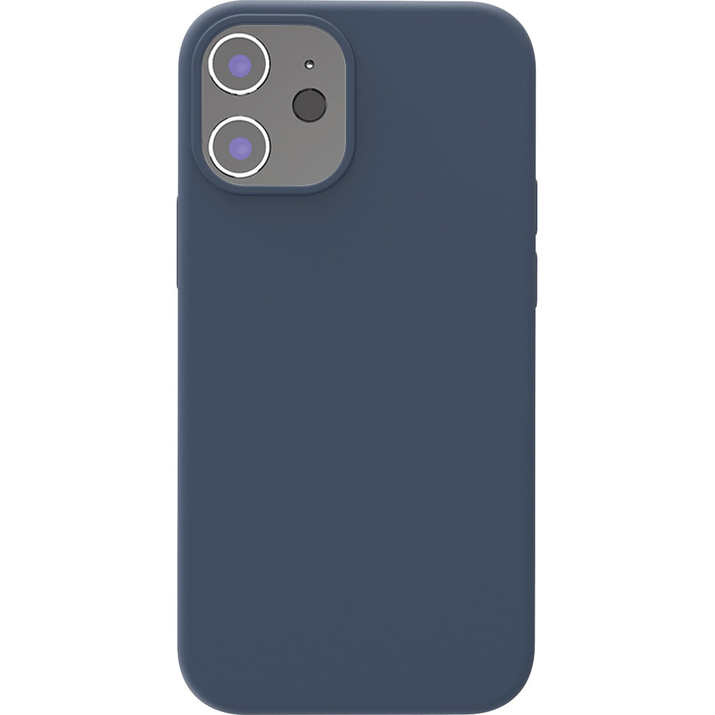 Azuri Back Cover iPhone 12 mini Siliconen Back Cover Blauw