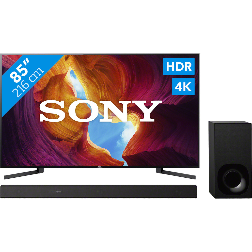 Sony KD-85XH9505 + Soundbar