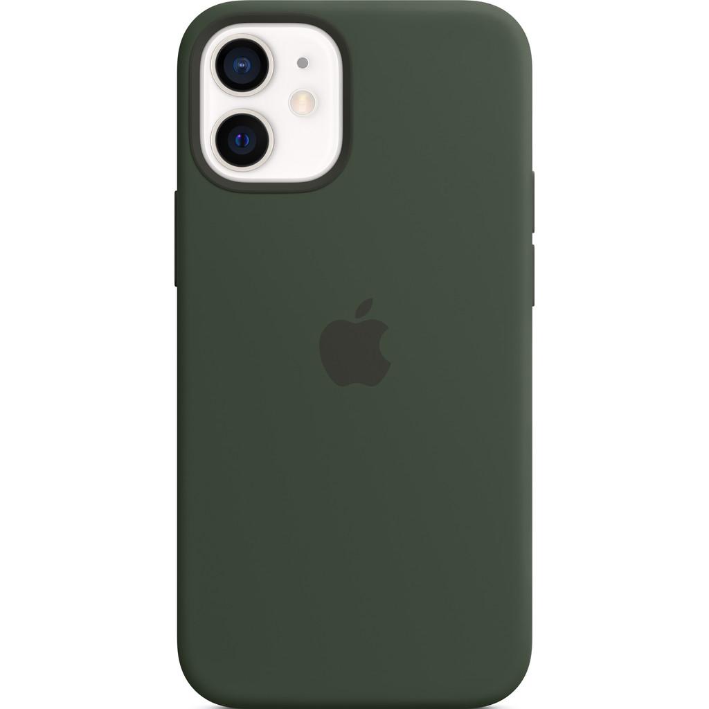 APPLE iPhone 12 mini Siliconen Case Cyprusgroen