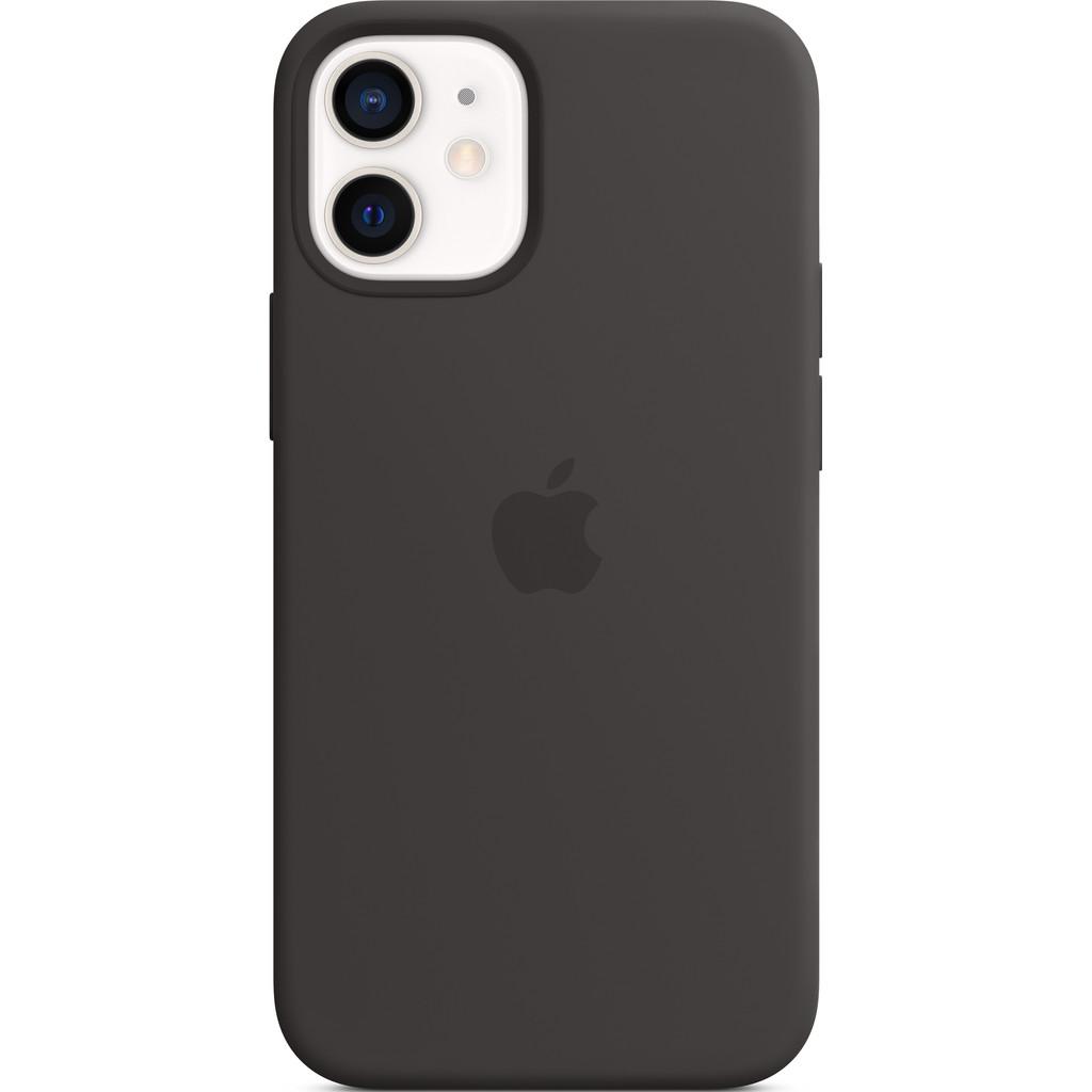 Tweedekans Apple iPhone 12 mini Silicone Back Cover met MagSafe Zwart