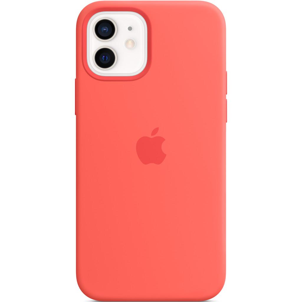 APPLE iPhone 12-12 Pro Siliconen Case Citrusroze
