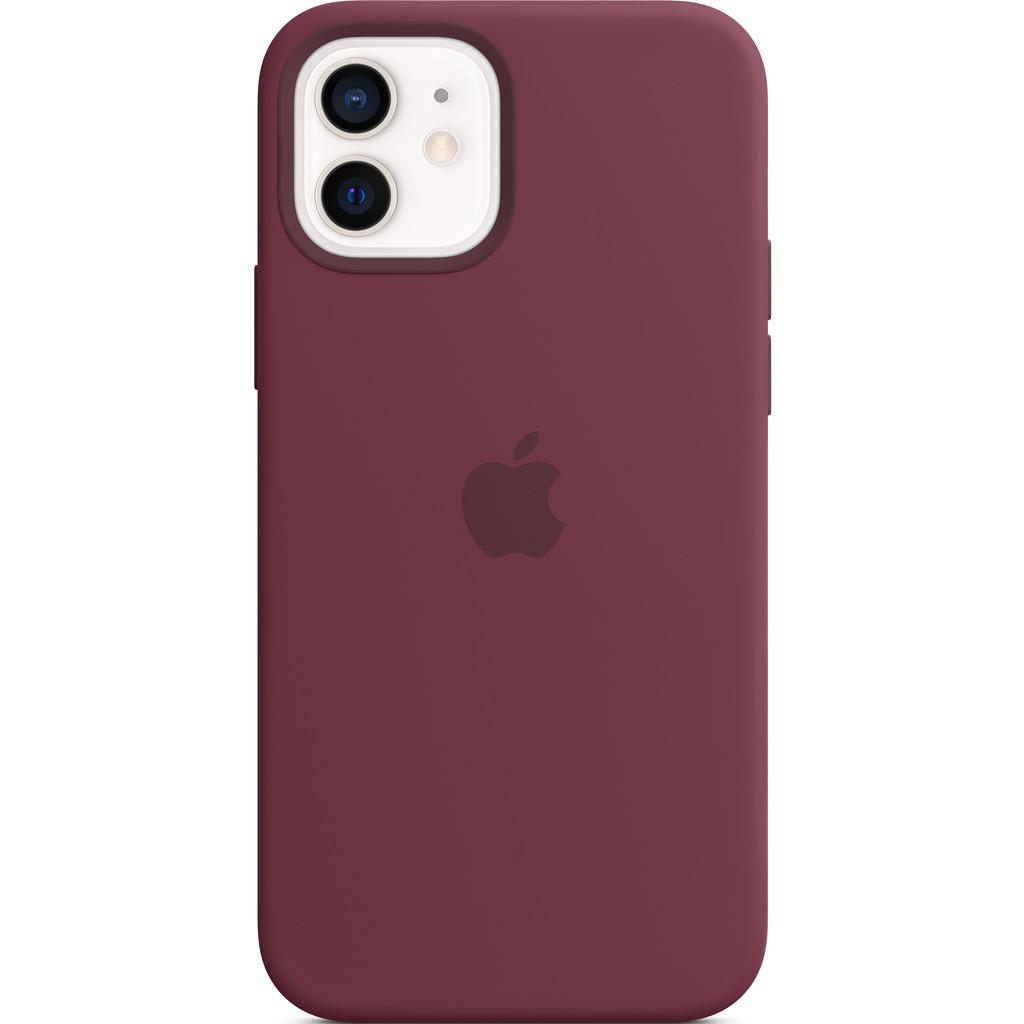 APPLE iPhone 12-12 Pro Siliconen Case Pruimenpaars