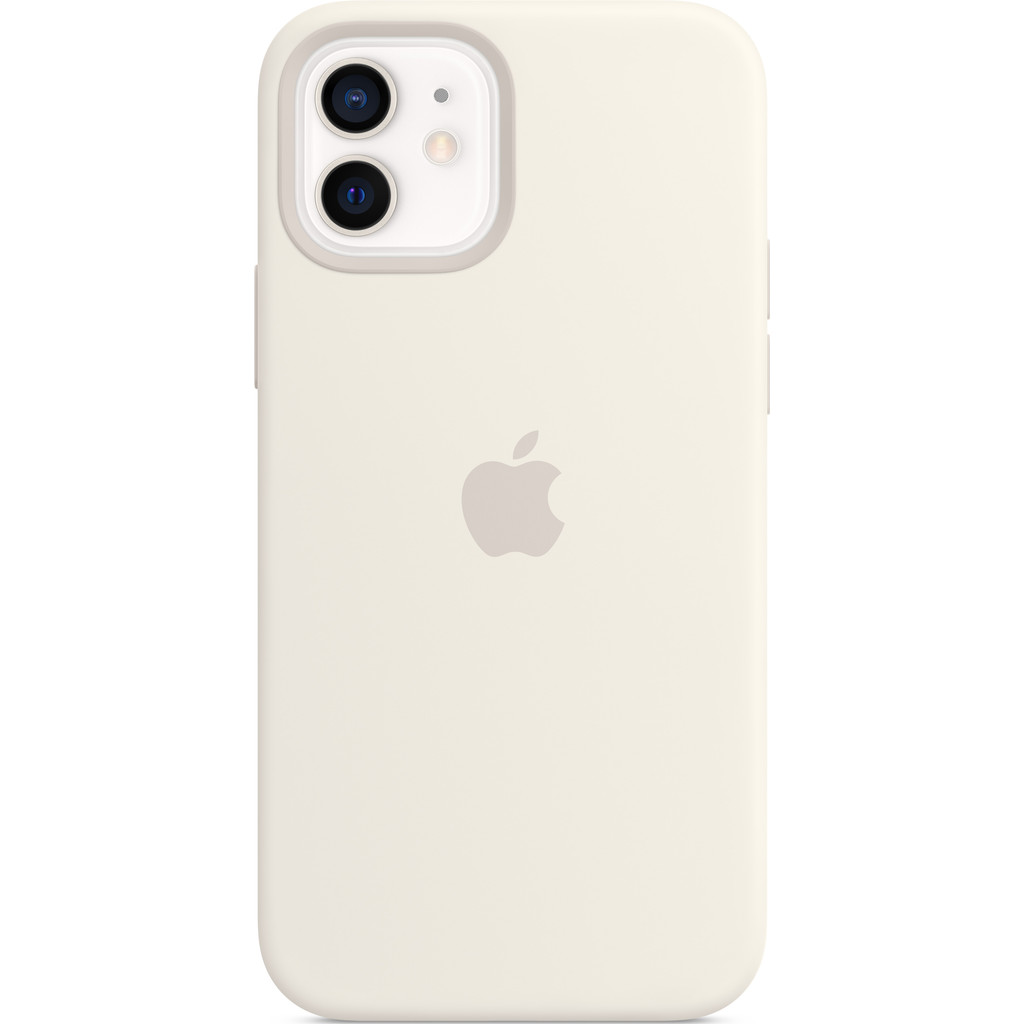 Tweedekans Apple iPhone 12 (Pro) Silicone Back Cover met MagSafe Wit