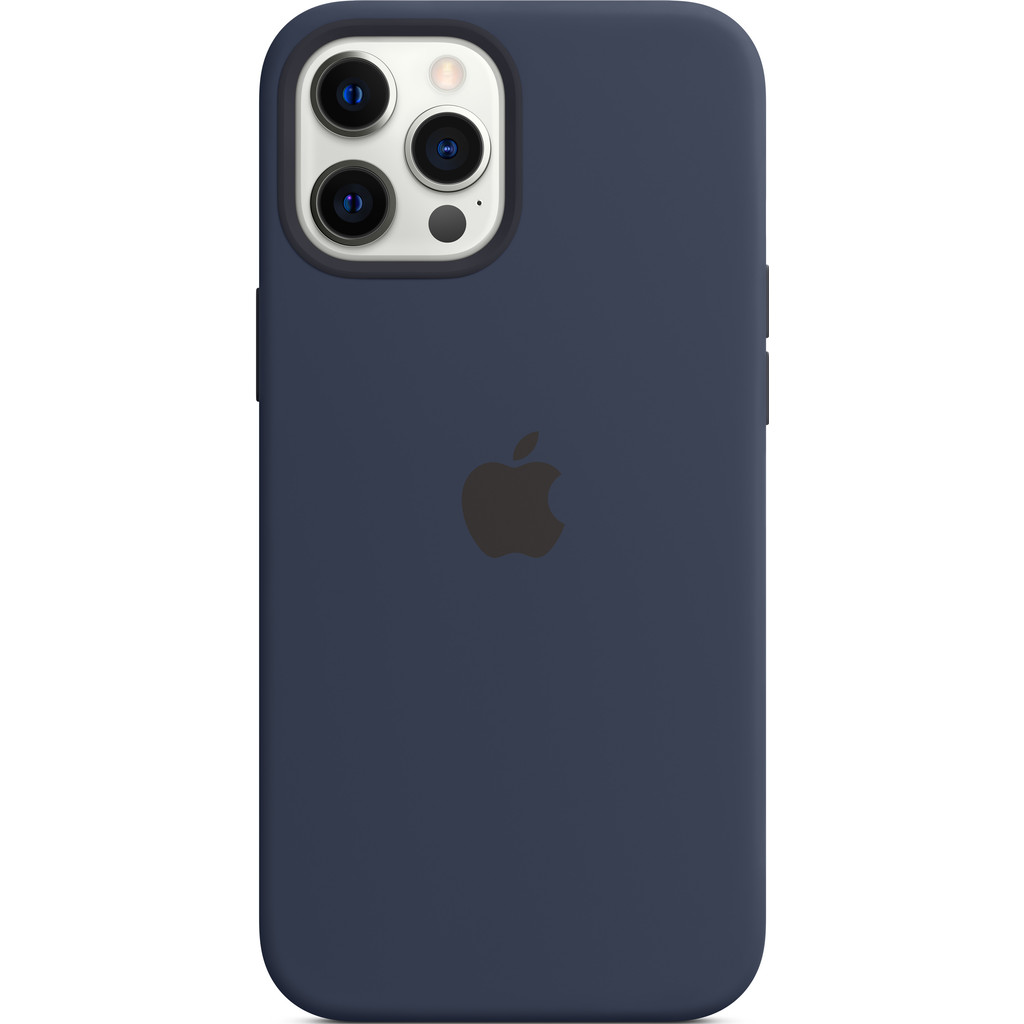 Tweedekans Apple iPhone 12 Pro Max Silicone Back Cover met MagSafe Donkermarineblauw