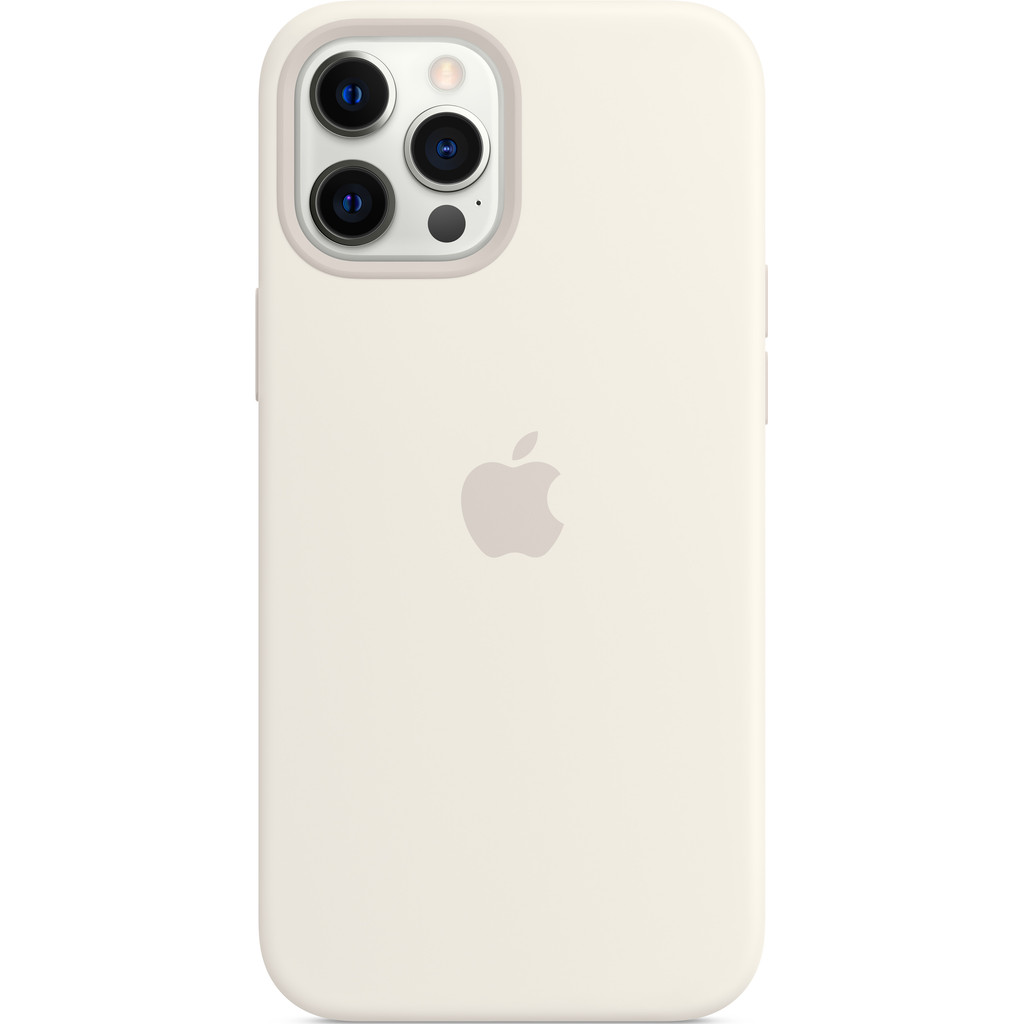 Tweedekans Apple iPhone 12 Pro Max Silicone Back Cover met MagSafe Wit