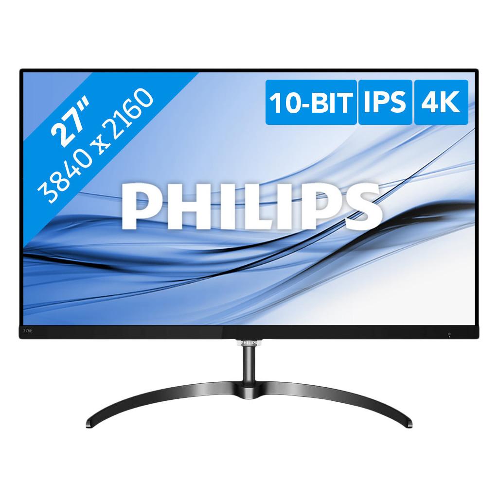 Philips 276E8VJSB-27 inch  3840 x 2160 resolutie  HDMI, DisplayPort