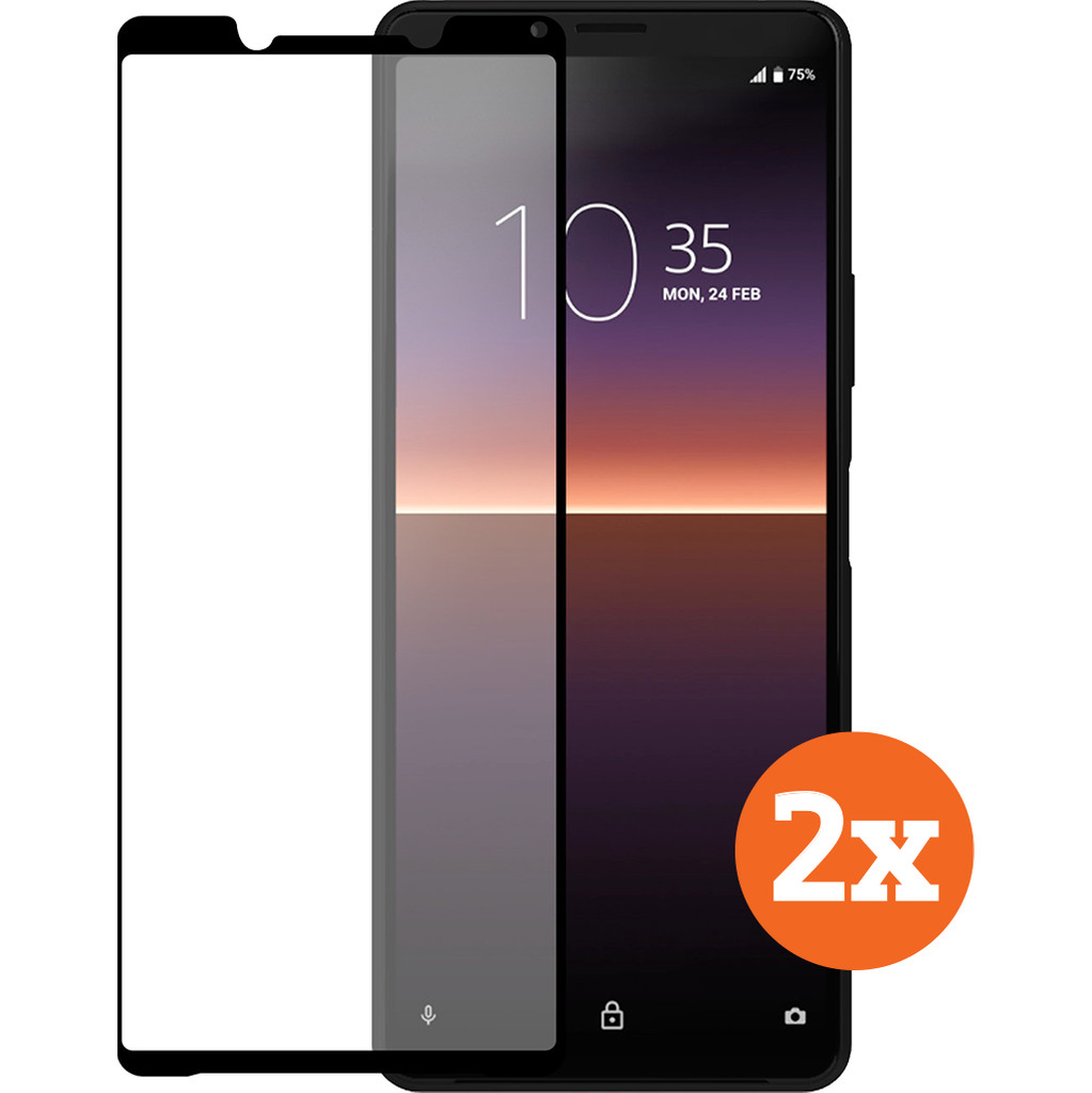 Azuri Tempered Glass Sony Xperia 10 II Screenprotector Duo Pack
