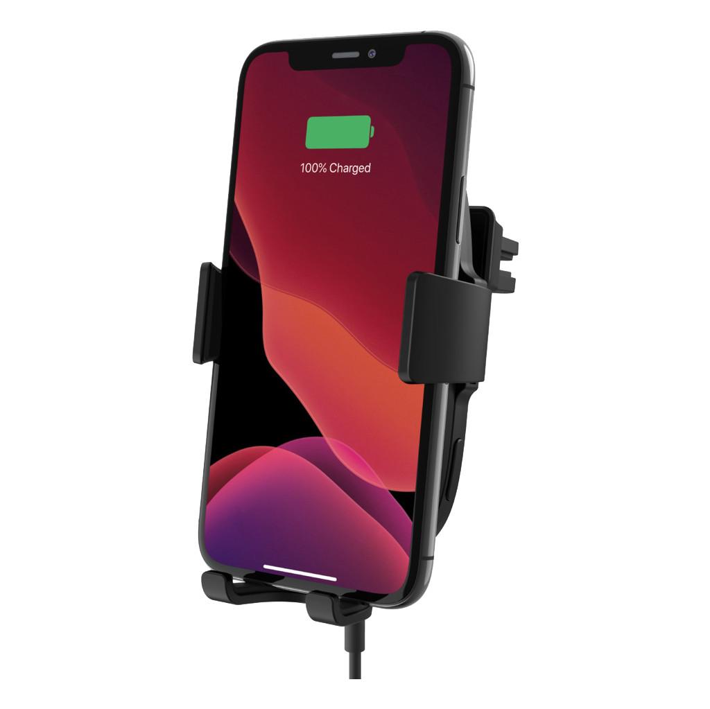 BELKIN Wireless Car Vent Mount + Car Charger 10 Watt Zwart