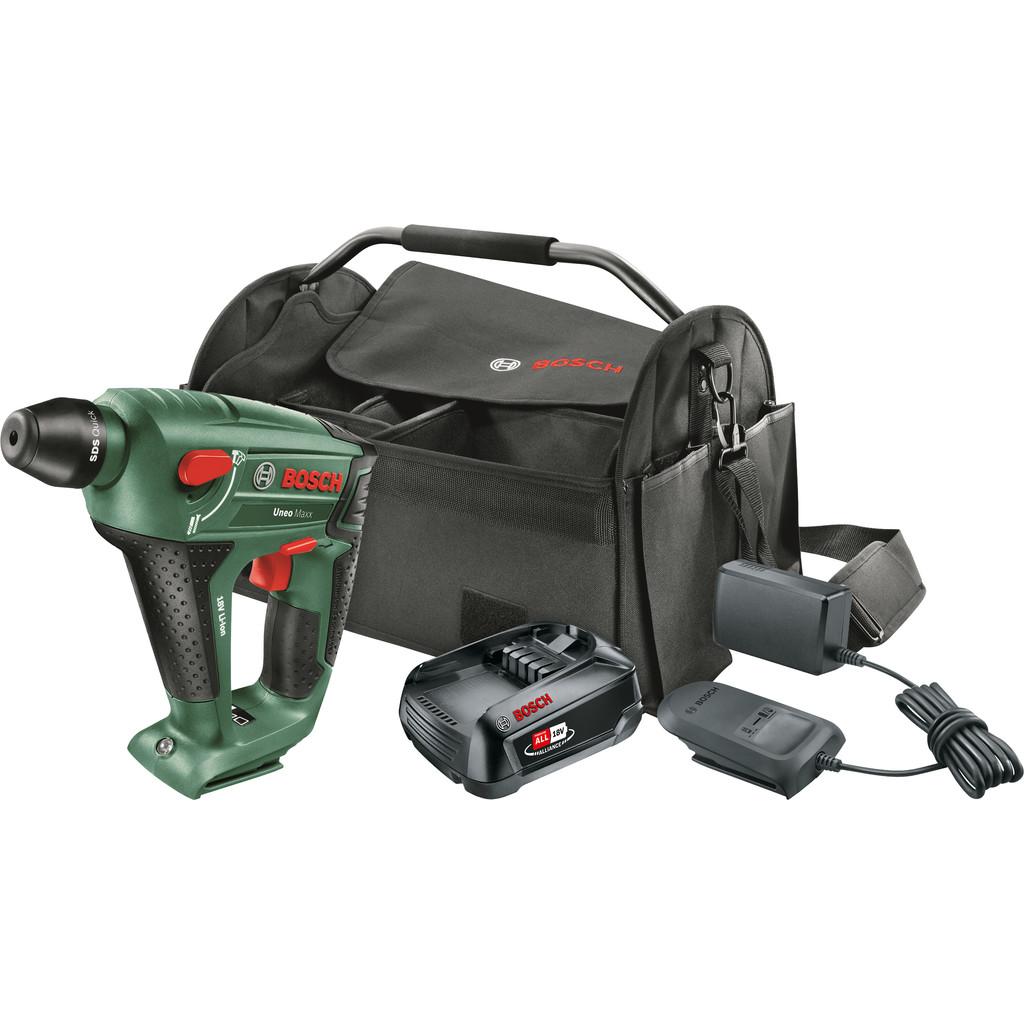Bosch Uneo Maxx + Bosch 18V 2,5 Ah Starterset (1 accu) + gereedschapstas