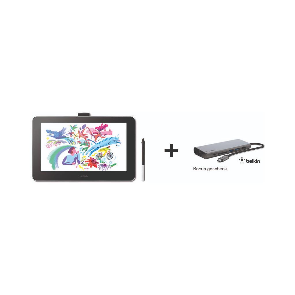 Tweedekans Wacom One 13 Pen Display + Belkin USB C Hub