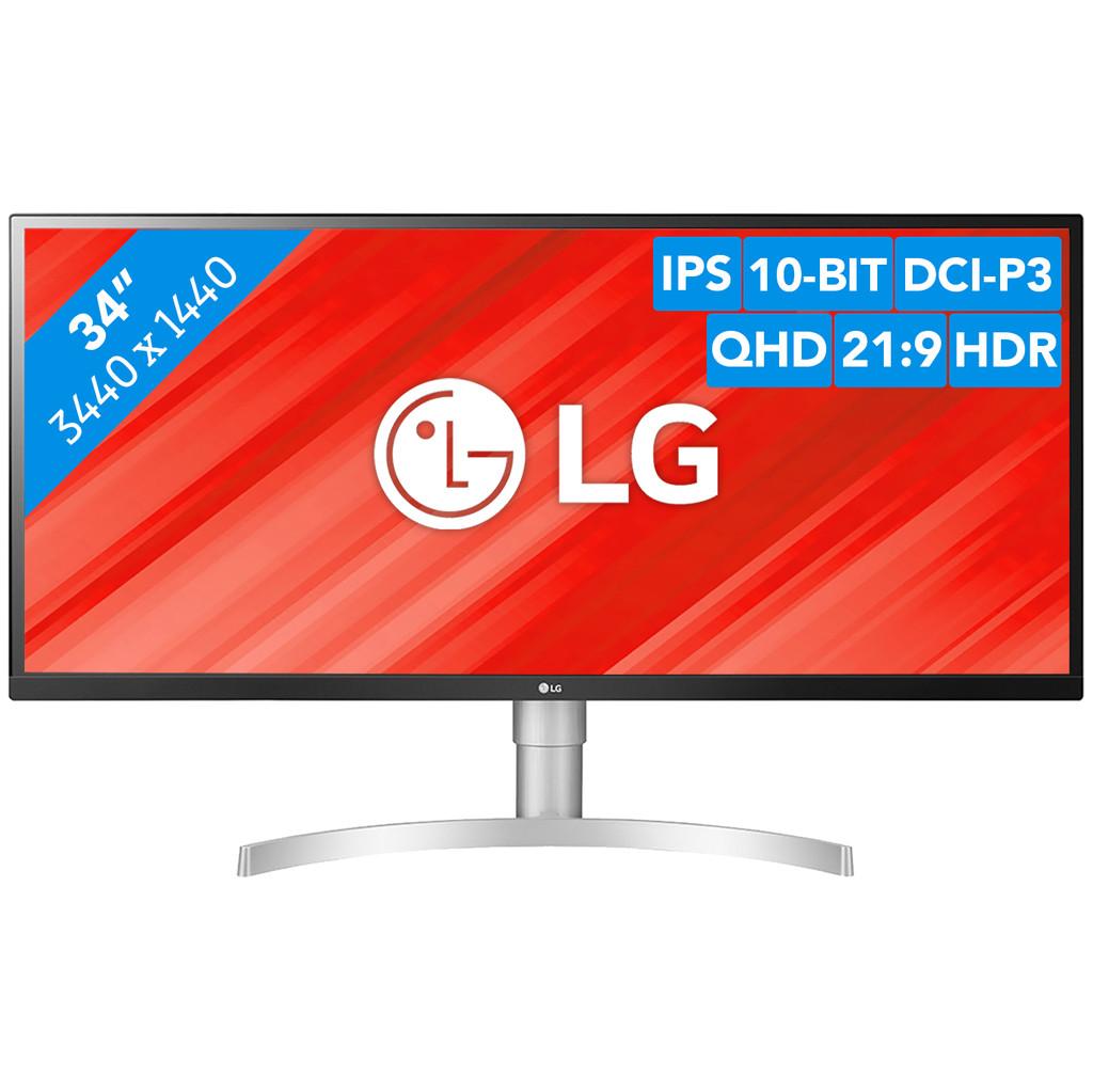 LG 34WL850-W LED display 86,4 cm (34) Flat Zwart, Zilver