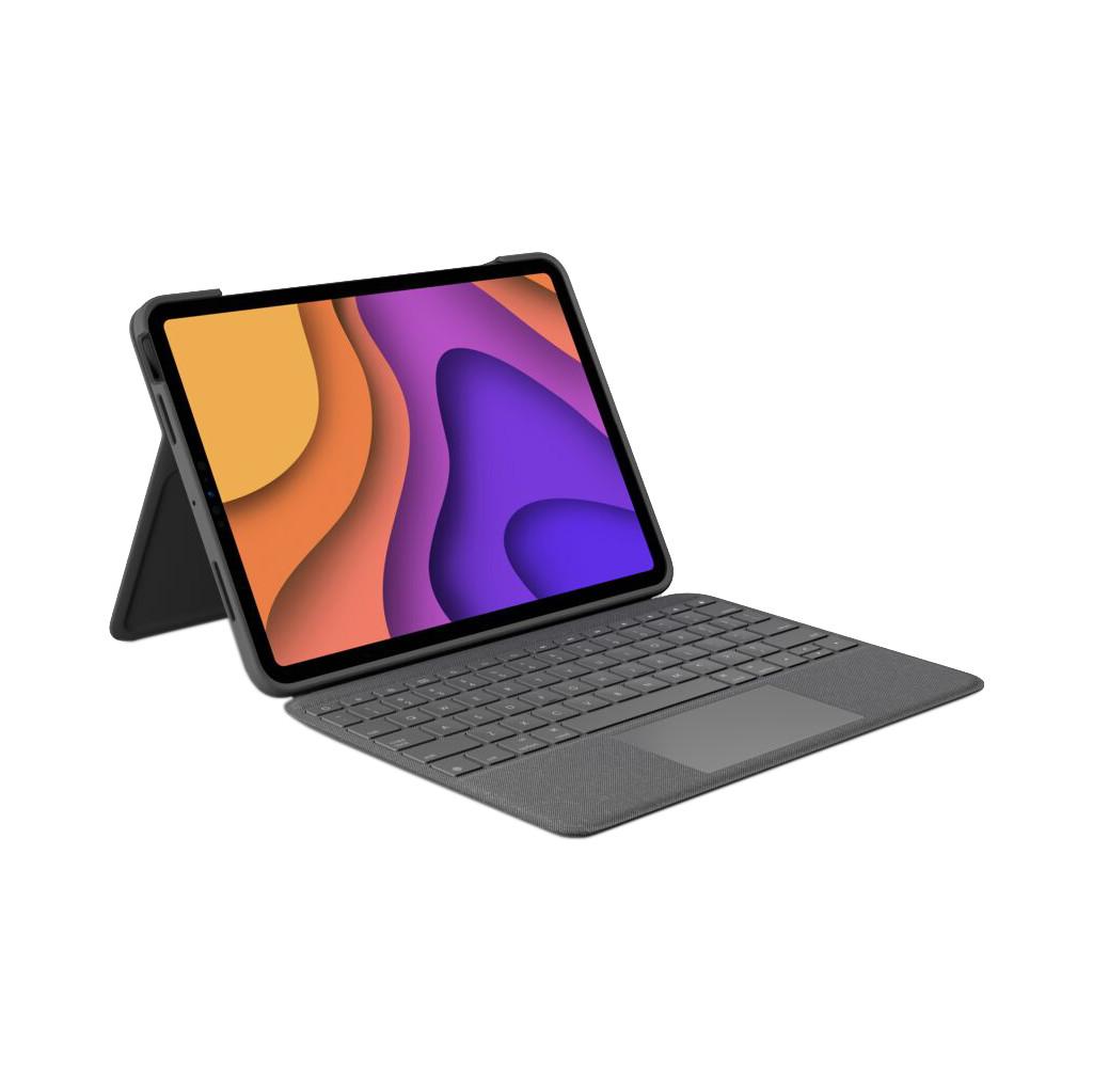Tweedekans Logitech Folio Touch Apple iPad Air (2020) Toetsenbord Hoes QWERTY Grijs