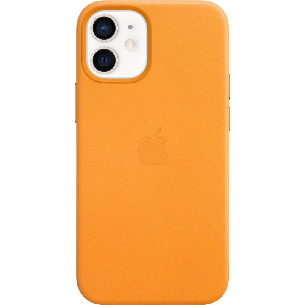 Tweedekans Apple iPhone 12 mini Back Cover met MagSafe Leer California Poppy