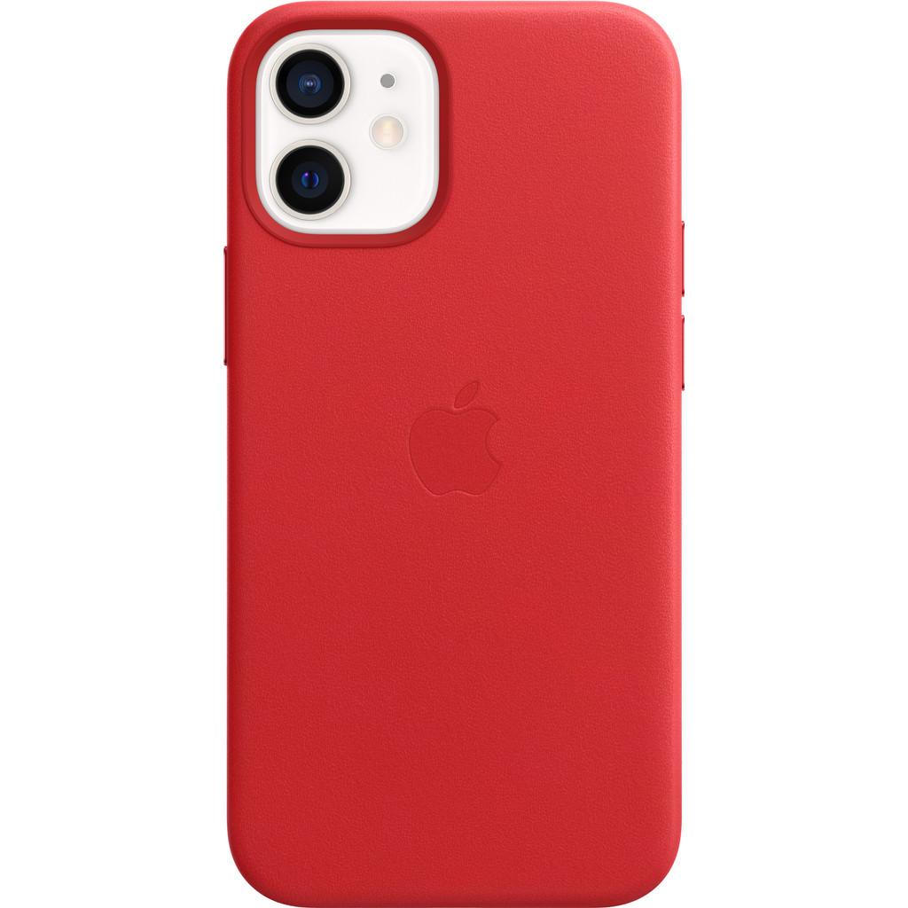 Tweedekans Apple iPhone 12 mini Back Cover met MagSafe Leer RED