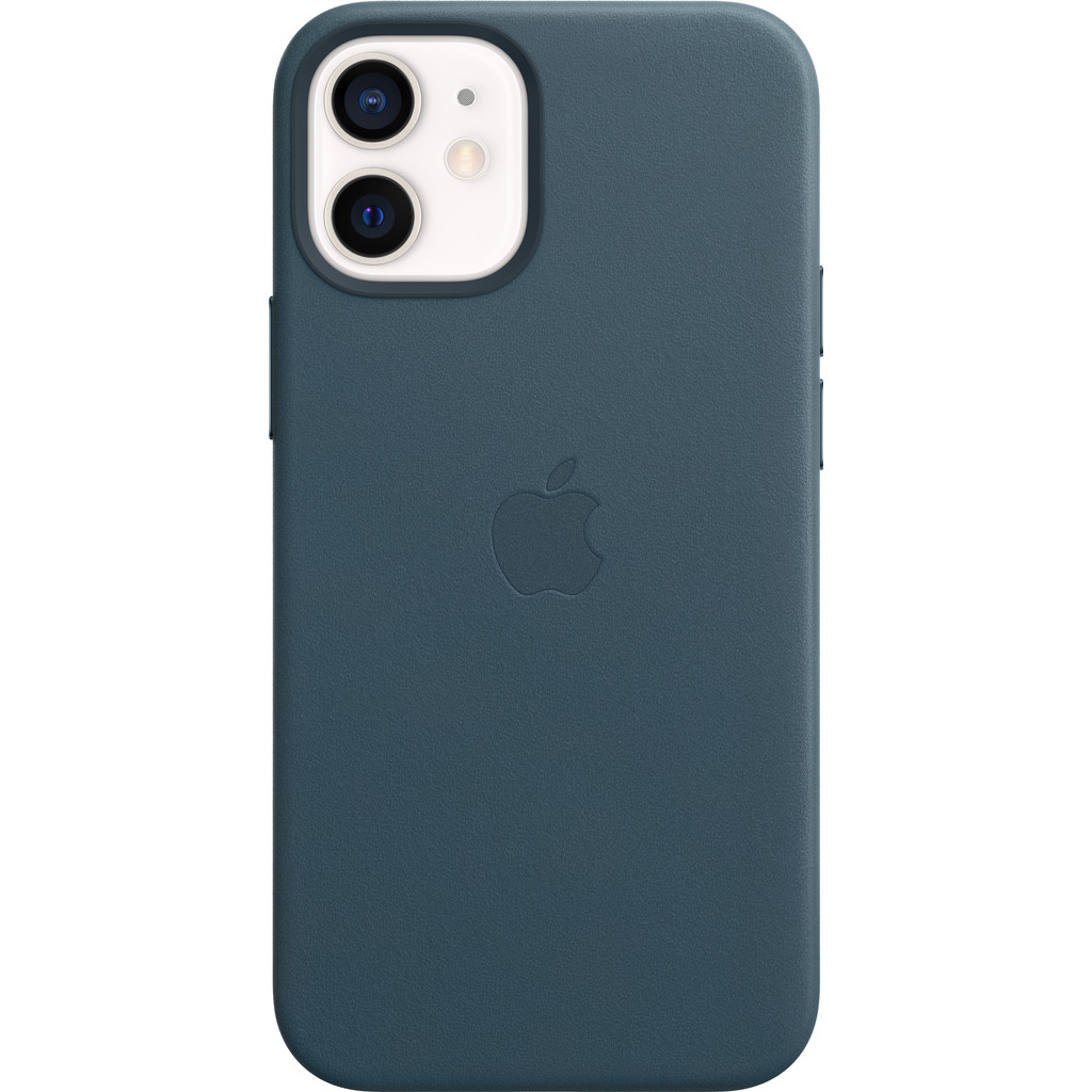Tweedekans Apple iPhone 12 mini Back Cover met MagSafe Leer Baltisch Blauw Tweedehands