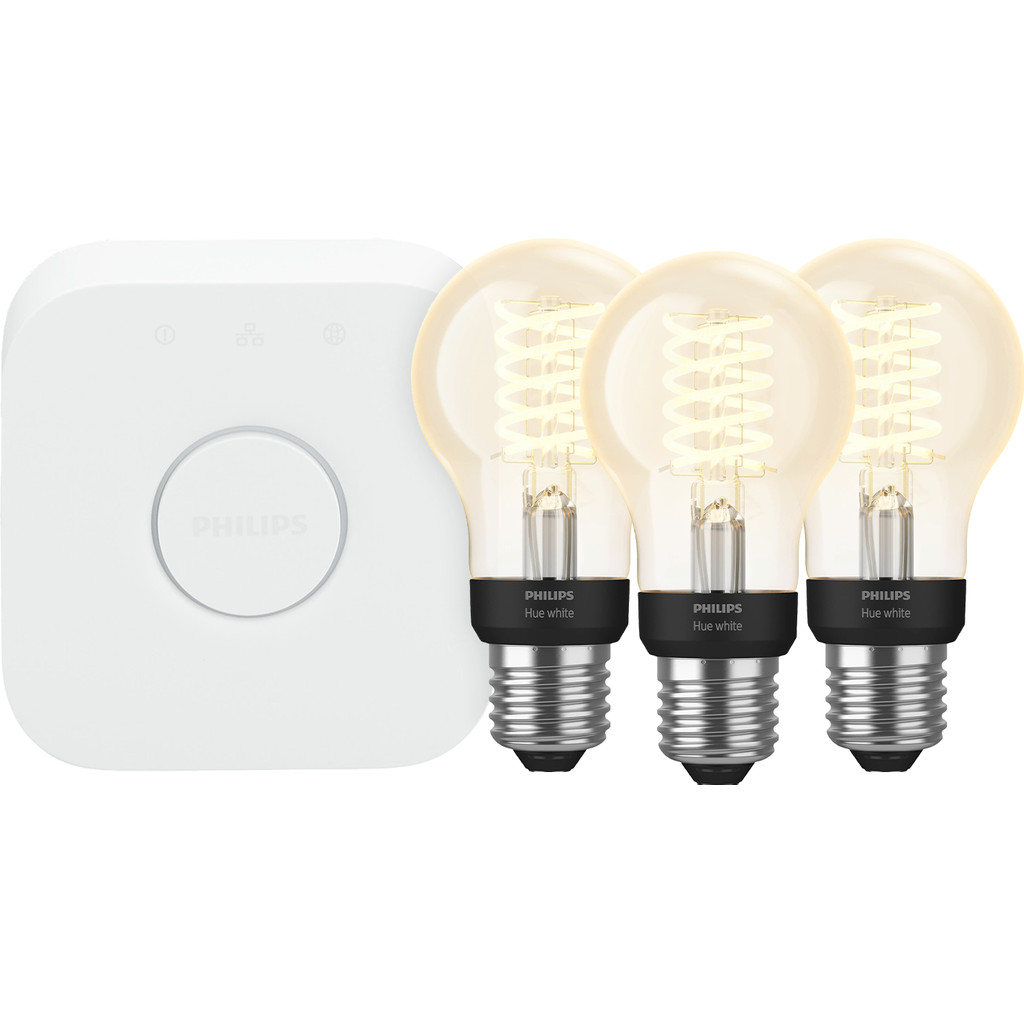 Philips Hue Filamentlamp White Standaard E27 Bluetooth Starter 3-Pack