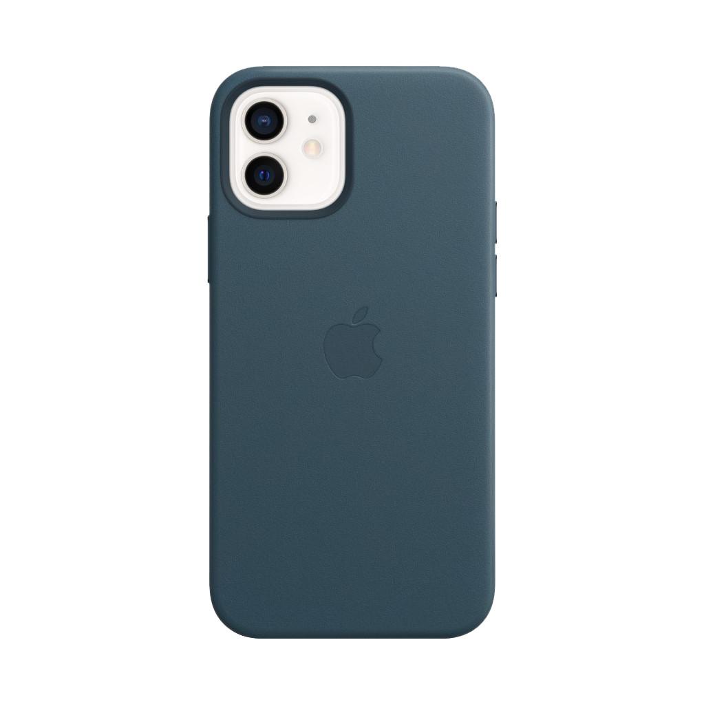 Tweedekans Apple iPhone 12 en 12 Pro Back Cover met MagSafe Leer Baltisch Blauw