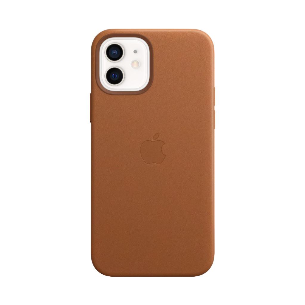 Tweedekans Apple iPhone 12 en 12 Pro Back Cover met MagSafe Leer Zadelbruin