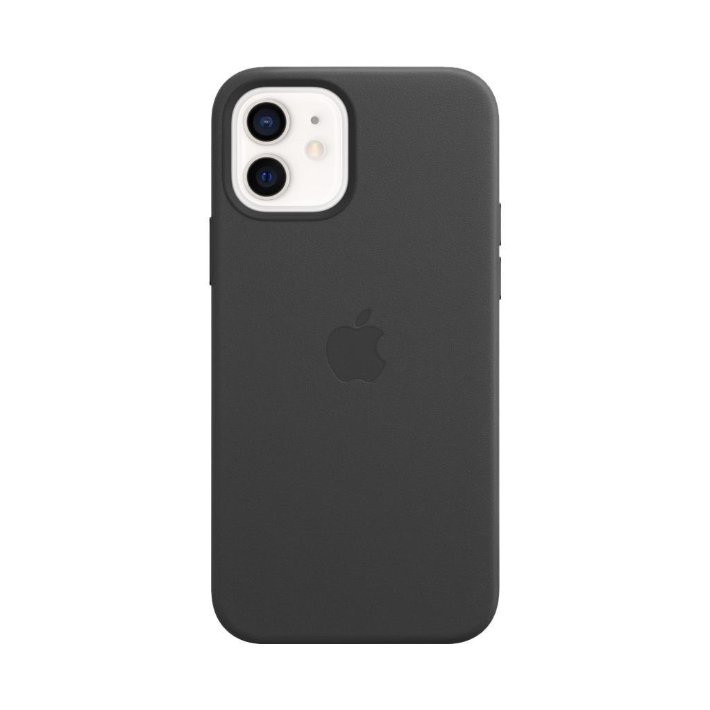 Tweedekans Apple iPhone 12 en 12 Pro Back Cover met MagSafe Leer Zwart
