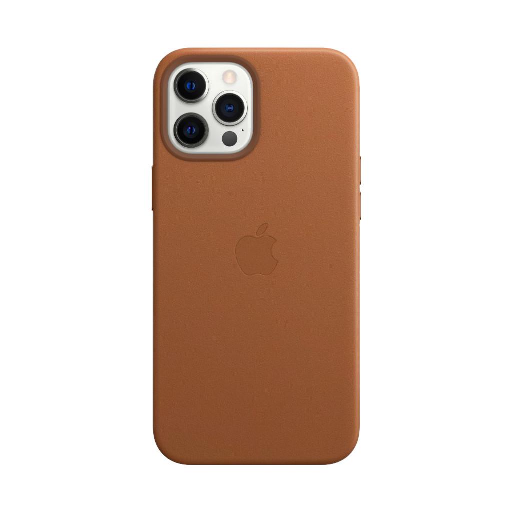 Tweedekans Apple iPhone 12 Pro Max Back Cover met MagSafe Leer Zadelbruin