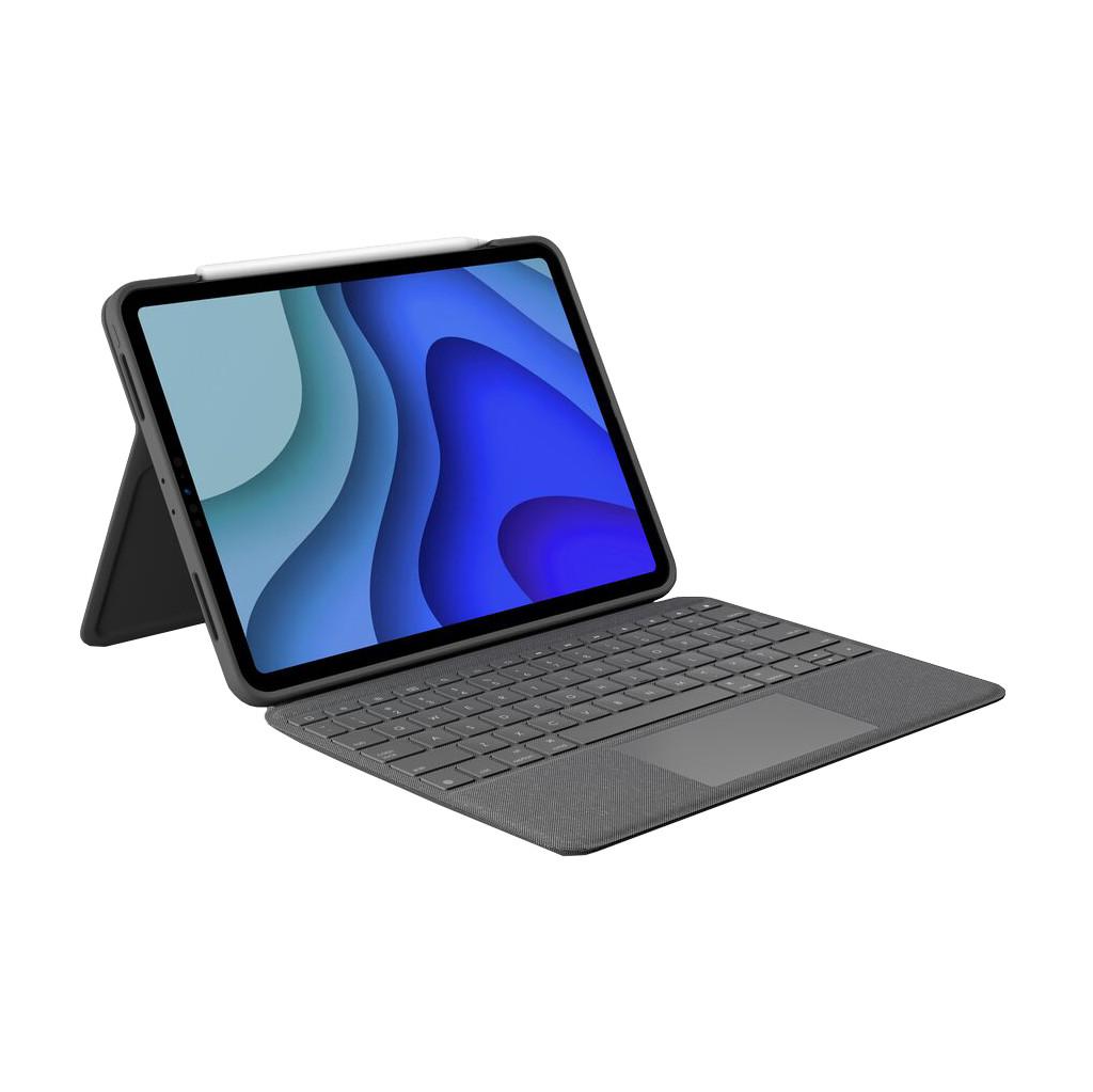 Tweedekans Logitech Folio Touch Apple iPad Pro 11 inch (2020)/(2018) Toetsenbord Hoes QWERTY Grijs