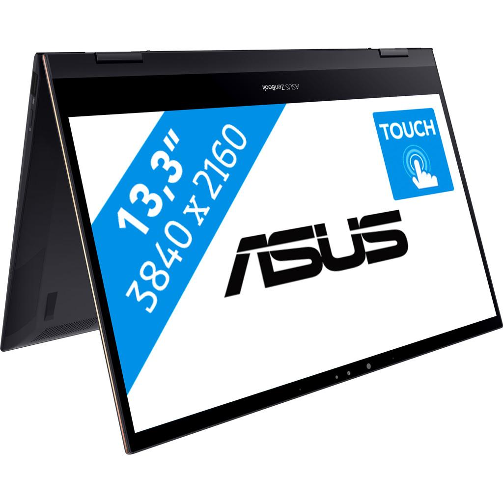 Asus ZenBook Flip S 13 UX371EA-HL135T-Krachtig genoeg voor video's bewerken  Intel Core i7 - 16GB - 1TB SSD   4K touchscherm