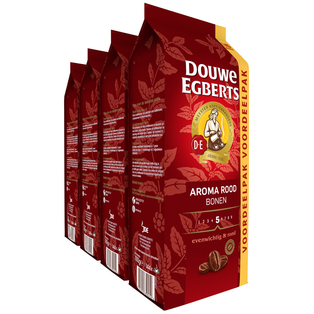 Douwe Egberts Aroma Rood koffiebonen 4 kg