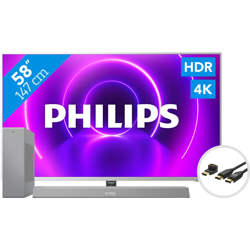 Philips The One 58PUS8505 - Ambilight + Soundbar +  HDMI kabel