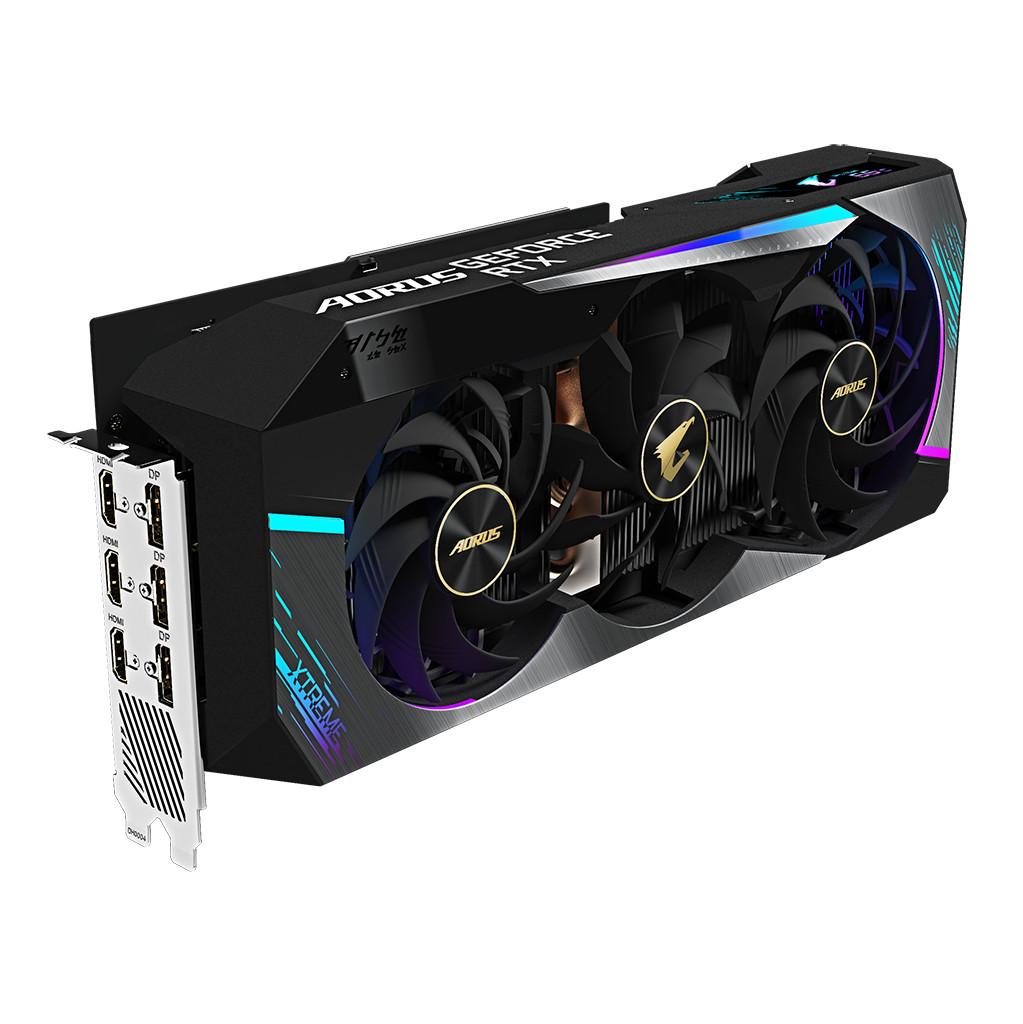Gigabyte AORUS GeForce RTX 3080 XTREME 10G LHR-Verlichting peripherals  10 GB GDDR6 geheugen  Kloksnelheid 1905 MHz
