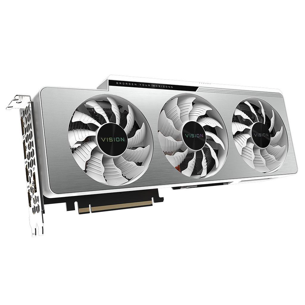 Gigabyte GeForce RTX 3080 VISION OC 10G LHR-Verlichting peripherals  10 GB GDDR6 geheugen  Kloksnelheid 1800 MHz