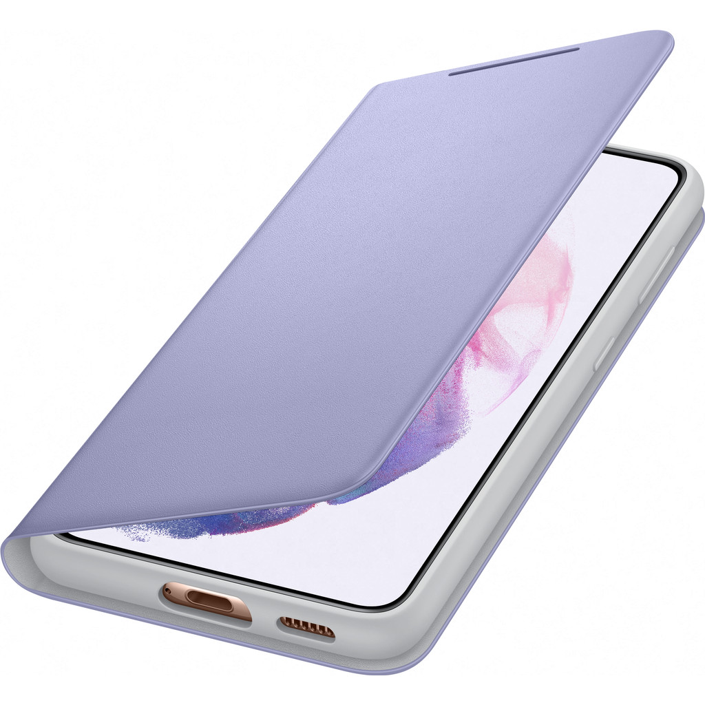 Tweedekans Samsung Galaxy S21 Led View Book Case Paars