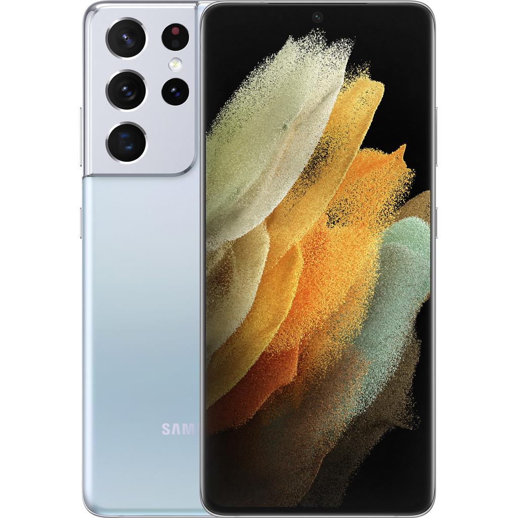 Samsung Galaxy S21 Ultra 128GB Zilver 5G-128 GB opslagcapaciteit  6,8 inch quad hd scherm  Android 11